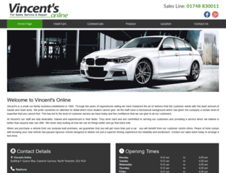 vincentsonline.co.uk screenshot