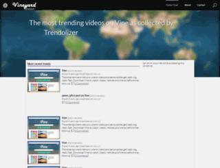 vineyard.trendolizer.com screenshot
