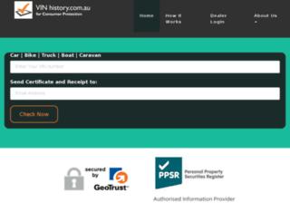 vinhistory.com.au screenshot