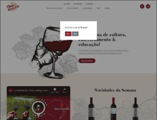 vinhosdebicicleta.com.br screenshot