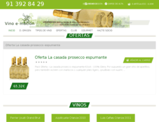vinoemocion.es screenshot