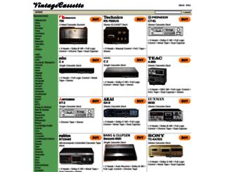 vintagecassette.com screenshot