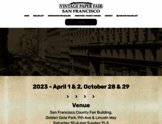 vintagepaperfair.com screenshot