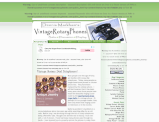 vintagerotaryphones.com screenshot