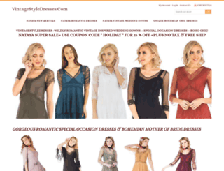 vintagestyledresses.com screenshot