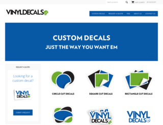 vinyldecals.com screenshot