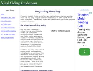 vinylsidingguide.com screenshot