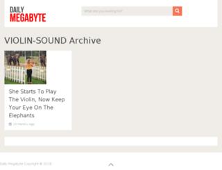 violin-sound.dailymegabyte.com screenshot