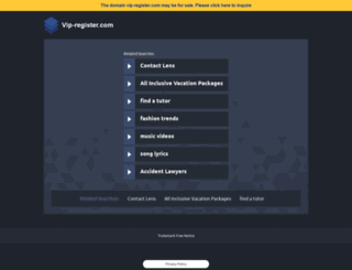 vip-register.com screenshot