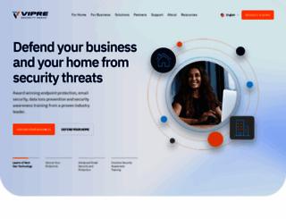 vipre.com screenshot