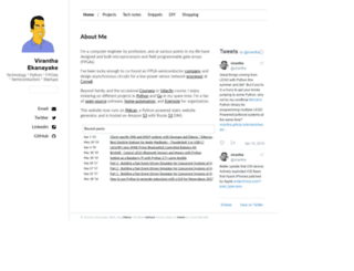 virantha.com screenshot