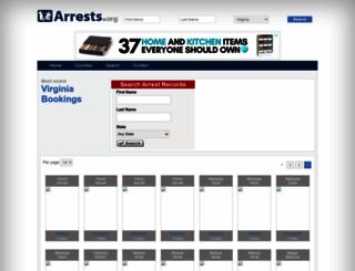 virginia.arrests.org screenshot