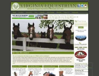virginiaequestrian.com screenshot