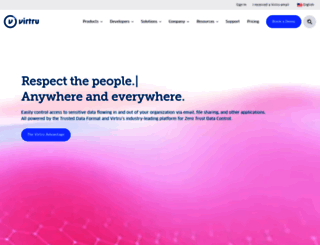 virtru.com screenshot
