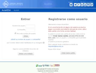 virtual.iesa.edu.ve screenshot