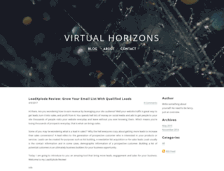 virtualhorizons.weebly.com screenshot