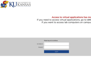 virtuallab.ku.edu screenshot