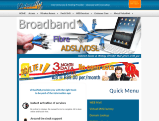 virtualnet.co.za screenshot