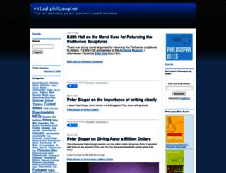 virtualphilosopher.com screenshot