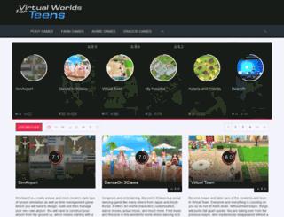 virtualworldsforteens.com screenshot