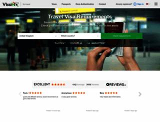 visahq.co.uk screenshot