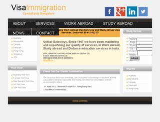 visaimmigrationconsultantsbangalore.com screenshot