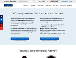 visaprolaw.com screenshot