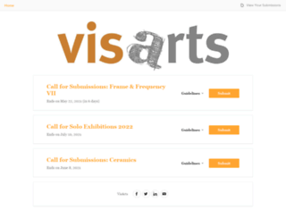 visarts.submittable.com screenshot