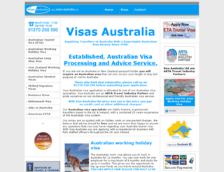 visas-australia.com screenshot