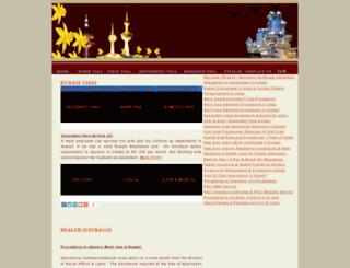visas.indiatokuwait.com screenshot