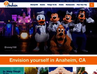 visitanaheim.org screenshot