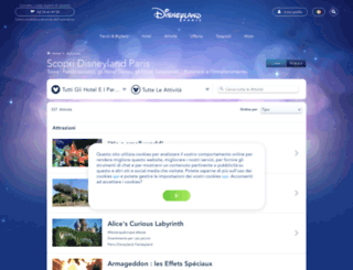 visitare.disneylandparis.it screenshot