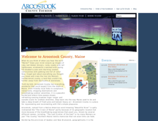 visitaroostook.com screenshot