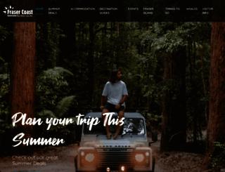 visitfrasercoast.com screenshot