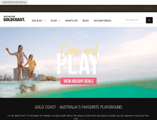 visitgoldcoast.com screenshot