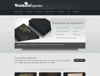 visitkortexperten.se screenshot