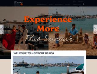visitnewportbeach.com screenshot