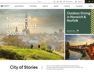 visitnorwich.co.uk screenshot