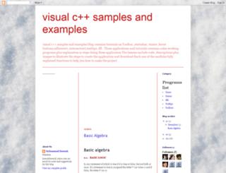 visualcsamples.blogspot.de screenshot