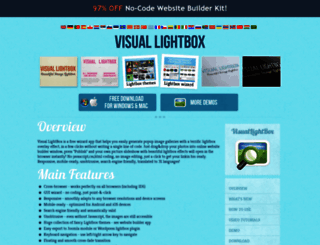 visuallightbox.com screenshot