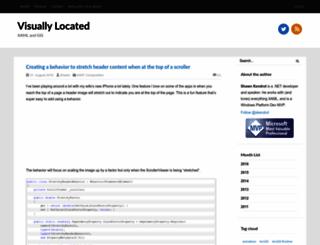 visuallylocated.com screenshot