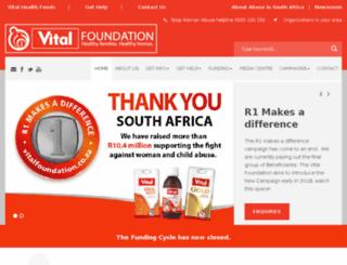 vitalfoundation.co.za screenshot