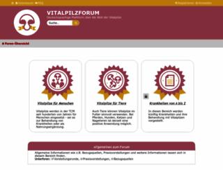 vitalpilzforum.de screenshot