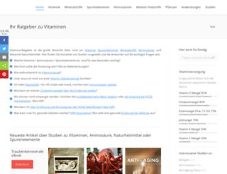 vitamine-ratgeber.com screenshot