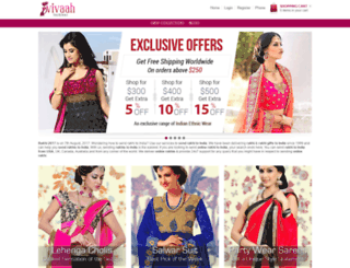 vivaahfashions.com screenshot