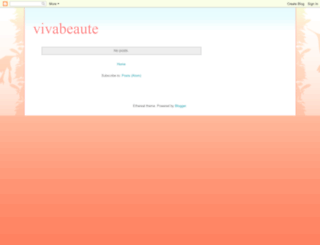 vivabeaute.blogspot.com screenshot