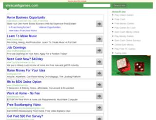 vivacashgames.com screenshot