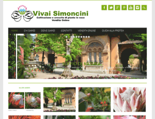 vivaisimoncini.it screenshot