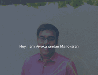 vivekanandan.in screenshot