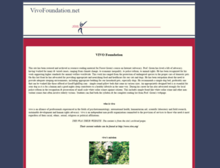 vivofoundation.net screenshot
